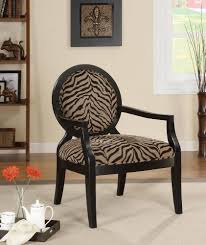 Zebra Accent Chair Coaster 900213 Louis Style Accent Chair With Exposed Wood Arms