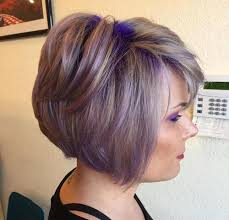 purple highlights in grey hair pretty designs
