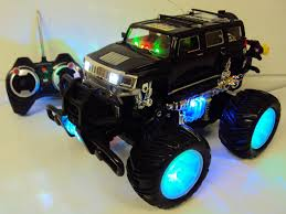 monster truck rc nitro big rc hummer h2 monster truck w mp3 ipod hook up engine sounds
