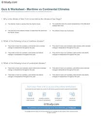 climate and weather worksheets worksheets