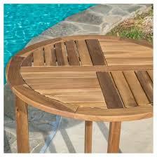 Acacia Wood Outdoor Furniture by Coronado 3pc Acacia Wood Patio Bistro Set With Cushions Teak