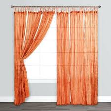 Sheer Curtains Orange Orange Sheer Curtains Orange Crinkle Sheer Voile Cotton Curtains