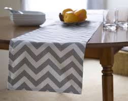 Grey Chevron Table Runner Modern Table Runners And Door Stoppers By Kikoychic On Etsy