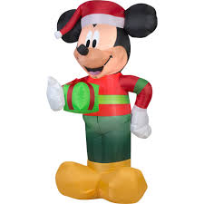 gemmy airblown christmas inflatables disney mickey with present 5