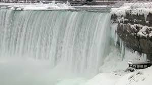 1910s frozen niagara falls dead winter 1919 stock