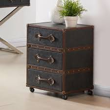 Esquire 3 Drawer Accent Table In Grey Trendyshoppingmall Com
