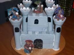 blue fairy cakes dragon castle cake