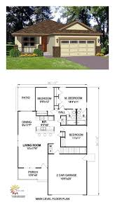 southwest house plan 94473 total living area 1216 sq ft 3