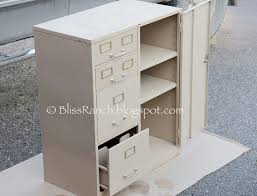 bliss ranch old metal file cabinet