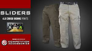 motorcycle riding pants sliders 4 0 cargo motorcycle riding pants review youtube