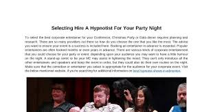 hypnotist for hire selecting hire a hypnotist for your party dochub