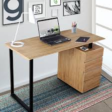 techni mobili double pedestal laminate computer desk chocolate techni mobili wayfair
