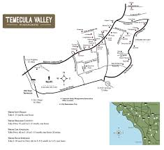 County Map Of California Temecula Valley Winegrowers Association Winery Map