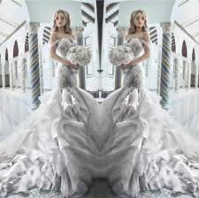 pnina tornai wedding dress uk pnina tornai 2015 rhinestone mermaid wedding dresses with