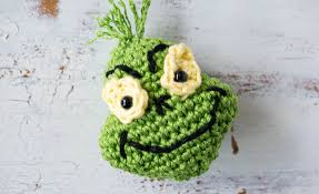 crochet grinch inspired ornament sewrella