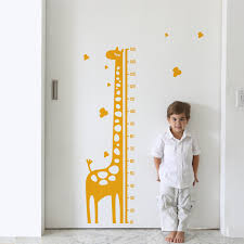 Giraffe Nursery Decor Growth Chart Sticker Giraffe Gerome Height Chart Wall Sticker