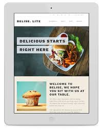 themes wordpress restaurant free belise lite themeisle