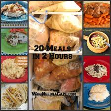 20 meals in 2 hours slow cooker freezer meals who needs a cape