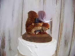 squirrel cake topper wedding cake topper with squirrels squirrel cake topper rustic