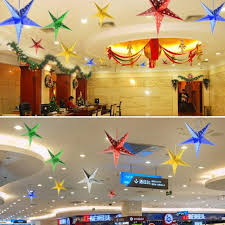 wedding ceiling decorations 30cm christmas hanging decorations 3d laser pentagram wedding
