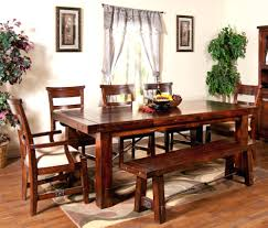 benches rustic dining table with benches wooden and bench modern