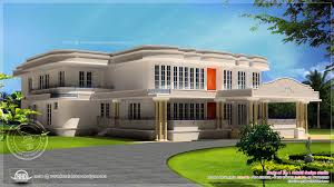 new luxury villa exterior in 3450 sq feet house design plans