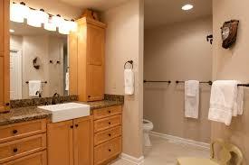 Apron Sink Bathroom Vanity by Bathroom Artistic Cream Ceramics Tiles Bathroom Wall Combined