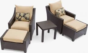 outside chair and table set gorgeous patio chair with ottoman delano 5 piece outdoor chair and