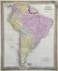 United States Map 1850 by Map Of South America 1852