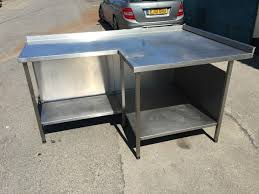 L Shape Table Secondhand Catering Equipment Stainless Steel Tables 1 01m To