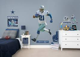 Dallas Cowboys Room Decor Life Size Ezekiel Elliott Fathead Wall Decal Shop Dallas Cowboys