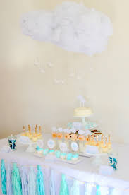 umbrella baby shower sprinkled with cloud baby shower