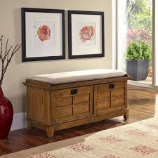 White Entryway Bench by Elegant Brown Wooden Entryway Bench Design With White Cushion