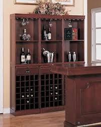 wall unit bar cabinet three 3 section wine liquor bottle wall storage unit bar furniture
