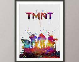 Ninja Turtle Wall Decor Teenage Mutant Ninja Turtles Poster Print Tmnt Cartoon