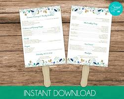 wedding program paddle fan template free template wedding program paddle fan template programs free