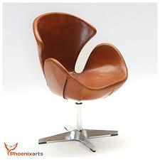 ledersessel design echtleder drehsessel egg chair leder sessel vintage ledersessel