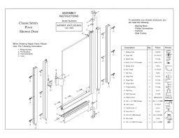 Shower Door Drip Rail Replacement by Door Shower Parts U0026 Sliding Shower Door Track Assembly Kit In