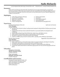 Sample Resume Objectives For Dietitian by Sample Resume For Case Manager Free Resume Example And Writing