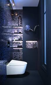 Salle De Bain Bleu Et Blanc by