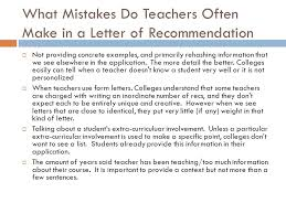 letters of recommendation ppt download