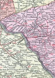 map of lancaster pa lancaster county pennsylvania 1911 map by rand mcnally