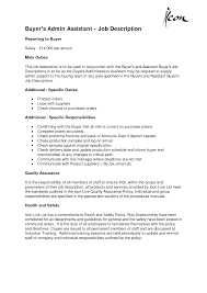 Resume For Admin Job by Description Of Administrative Assistant For Resume Resume For