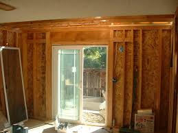 Framing Patio Door How To Install A Patio Door Darcylea Design