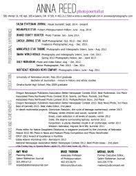 Photographer Resume Format