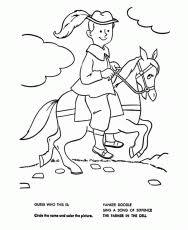 Yankee Doodle On A Horse Going To Town Coloring Page Coloring Home Yankee Doodle Coloring Page 2