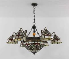 Tiffany Chandelier Lamps Tiffany Chandelier Stained Glass Lamp Ceiling Pendant Light