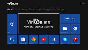 center android vidon box vidon media center vidon me