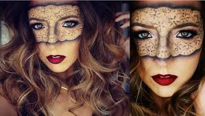 masquerade lace mask halloween makeup tutorial ashley landry