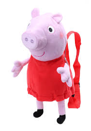 superman peppa pig and other peppa pig plush backpack
